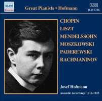 HOFMANN, Josef: Historical Recordings (1916-1923)