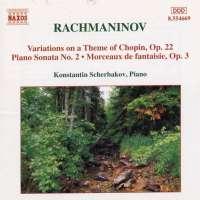RACHMANINOV: Piano sonata no. 2
