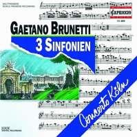 BRUNETTI Gaetano: 3 Sinfonien