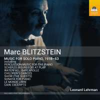 Blitzstein: Music for solo piano