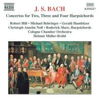 BACH.J.S: Concertos for Two, Three and Four Harpsichords