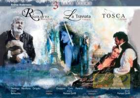 3 Live Films - Rigoletto; Traviata; Tosca