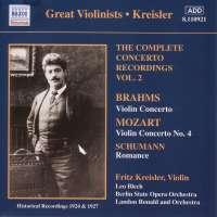 Fritz Kreisler: Complete Concerto Recordings, Volume 2