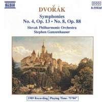 Dvorak: Symphonies no. 4, 8