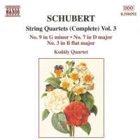 SCHUBERT: String Quartets vol. 3