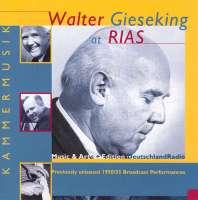 Walter Gieseking at RIAS