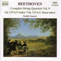 BEETHOVEN: String Quartets vol. 9