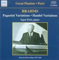Brahms: Paganini and Handel Variations