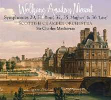 MOZART: Symphonies Nos. 29, 31, 32, 35 & 36