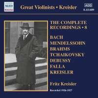 Kreisler - The Complete Recordings Vol. 8
