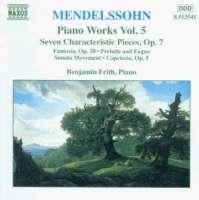 MENDELSSOHN: Piano Works vol. 5