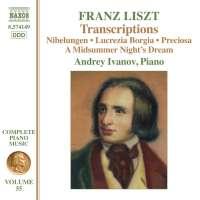 Liszt: Complete Piano Music Vol. 55 - Transcriptions