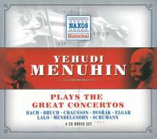 Yeuhudi Menuhin plays the Great Concertos