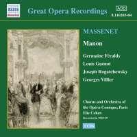MAssenet: Manon (1928-1929)