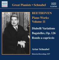 Beethoven: Piano Works, Vol. 11