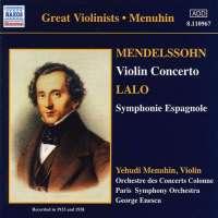 Lalo: Symphonie Espagnole / Mendelssohn: Violin Concertosin E minor