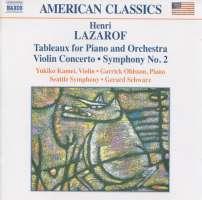 LAZAROF: Symphony No. 2; Violin Concerto