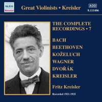 Kreisler: Complete Recordings Vol. 7 (1921-1925)