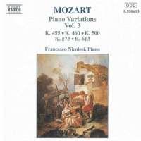 MOZART: Piano Variations vol. 3