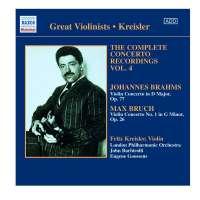 Fritz Kreisler: Complete Concerto Recordings Vol.4
