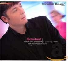 Schubert: Sonate pour piano no. 23; Trois Klavierstücke