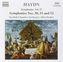 HAYDN: Symphonies, Vol. 27 - Nos. 50, 51, 52