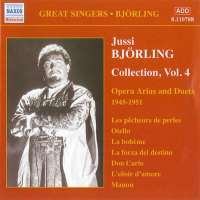BJORLING, Jussi: Bjorling Collection, Vol. 4: Opera Arias and Duets (1945-1951)