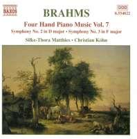 BRAHMS: Four hand piano music vol. 7