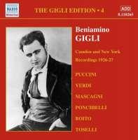 GIGLI, Beniamino: Gigli Edition, Vol. 4: Camden and New York Recordings (1926-1927)