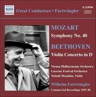 MOZART: Symphony No. 40 / BEETHOVEN: Violin Concerto