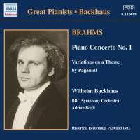 Brahms:Piano Concerto No 1; Piano Works