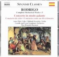RODRIGO: Concierto in Modo Galante; Concierto de Estio (Complete Orchestral Works, Vol. 3)
