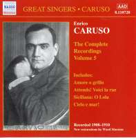 Enrico Caruso:The Complete Recordings Vol.5