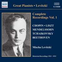 Levitzki: Complete Recordings Vol. 1