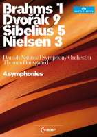 4 Symphonies , Dvorak, Brahms, Sibelius, Nielsen / Thomas Dausgaard