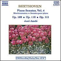 BEETHOVEN: Piano Sonatas Vol. 4
