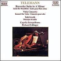 Telemann: Recorder Suite in A Minor, Viola Concerto, Tafelmusik: 2 Concertos