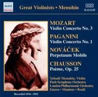 MOZART - Violin Conc. 3, PAGANINI