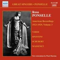 PONSELLE Rosa - American Recordings Vol. 3