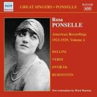 PONSELLE Rosa: American Recordings Vol. 4