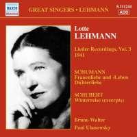 LEHMANN Lotte - Lieder Recordings Vol. 3