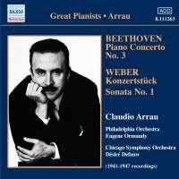 Beethoven - Piano Concerto No. 3, WEBER -Konzertstuck / Piano Sonata No. 1