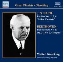 """Bach: Partitas Nos. 1, 5 & 6, Italian Concerto, BEETHOVEN: Piano Sonata No. 17 """"Tempest"""""""