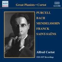 Great Pianists - Cortot, PURCELL, BACH, MENDELSSOHN, FRANCK, SAINT-SAENS, nagr. 1929-37
