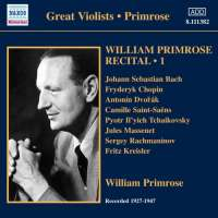 William Primrose: Recital Vol. 1, nagr. 1927-1947