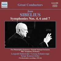 Sibelius: Symphonies Nos. 4, 6 and 7
