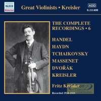 Kreisler, Fritz: The Complete Recordings Vol. 6