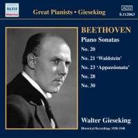 Beethoven: Piano Sonatas Nos. 20, 21, 23, 28 & 30, nagr. 1938-1940
