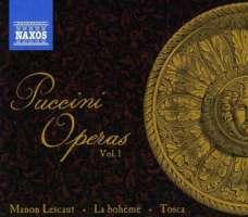Puccini Operas Vol. 1 - Manon Lescaut, La boheme, Tosca
