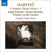 Martinu: Complete Piano Music Vol. 1